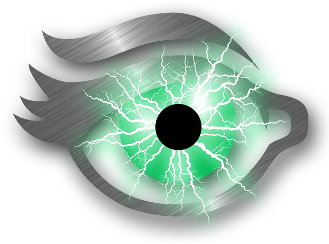 Eye Candy 7 software logo eye with electric arcs