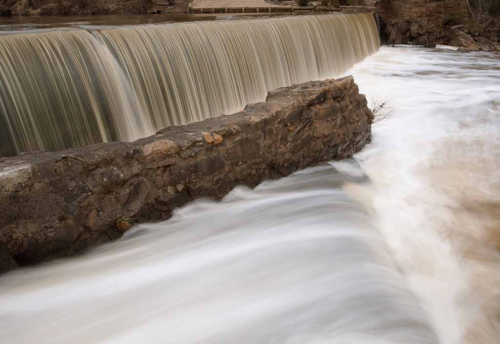long exposure of waterfall at Lassiter Mill