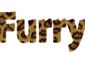 Eye Candy Furry Text