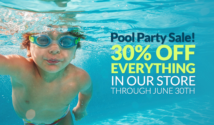 Pool Party Sale! 30% OFF Everything in our store through June 30th.