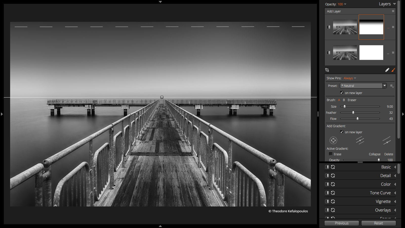 Customizable Effects - dock image with linear radial tools visible by Theodore Kefalopoulos