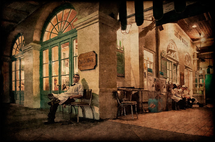 Image © Roger Mathis, New Orleans. Processing by printmaker Jonathan Penney