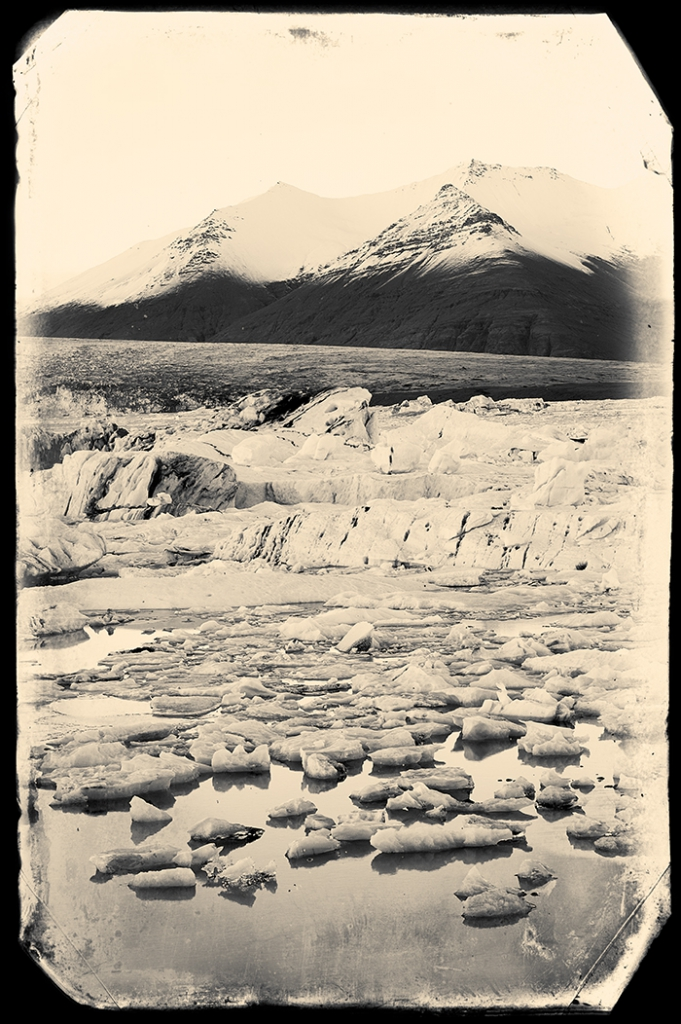 Nostalgia for Snow: A Climate Change Photography Project. Ice on Jokulsarlon lagoon, Iceland