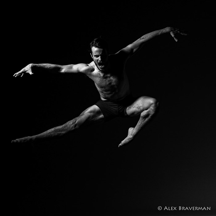 black and white dance photography with Alex Braverman: Birds of Prey #508 Lois Greenfield studio, Credits: Austin Tyson