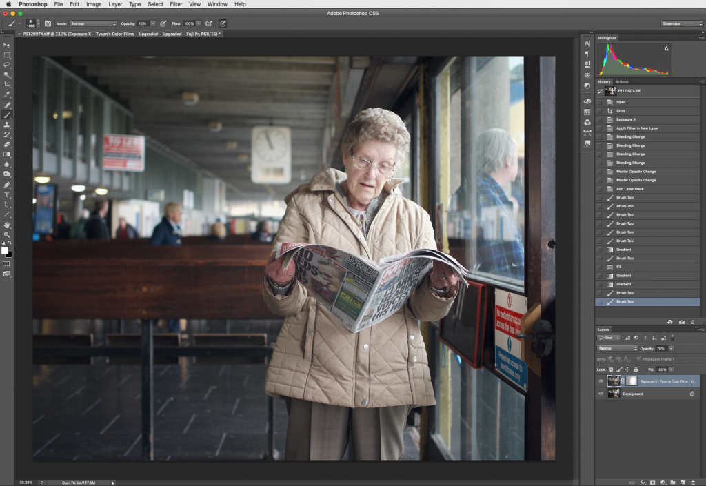 Image Retouching with Exposure -- Photoshop