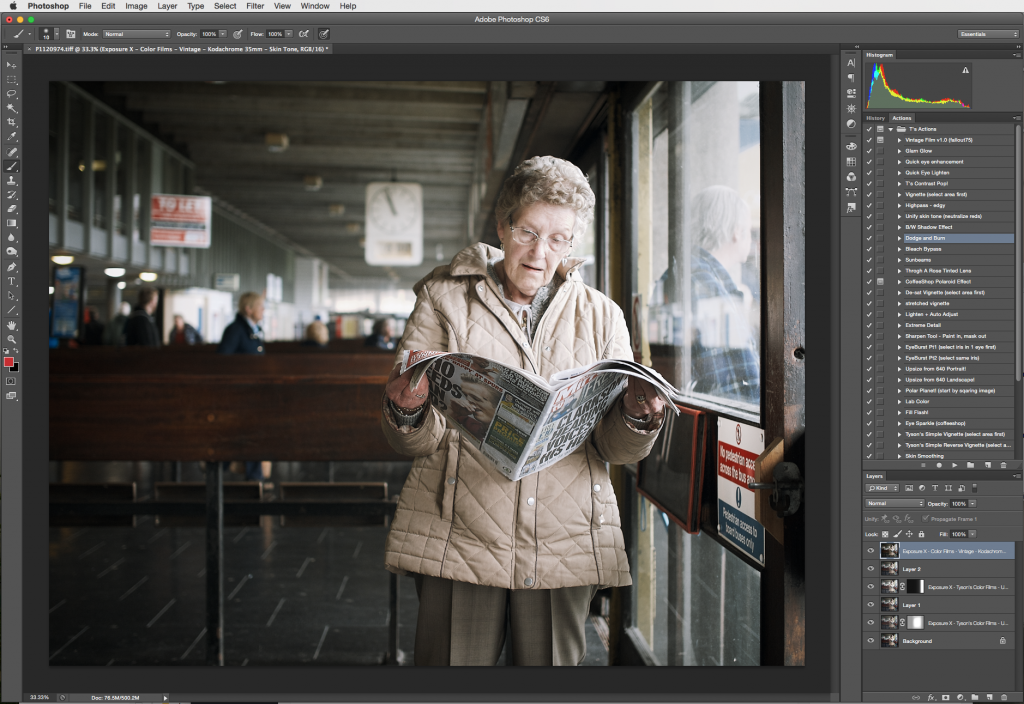 Image Retouching with Exposure -- Photoshop Status 2