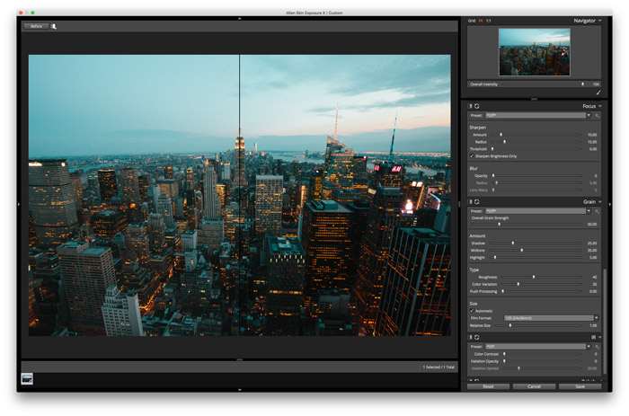 editing landscape photos with Exposure X