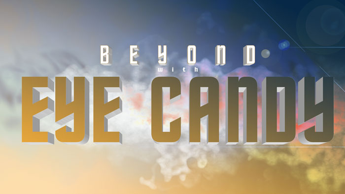 Adding a single movie prime lens flare effect below the lettering punches up the graphic's depth.