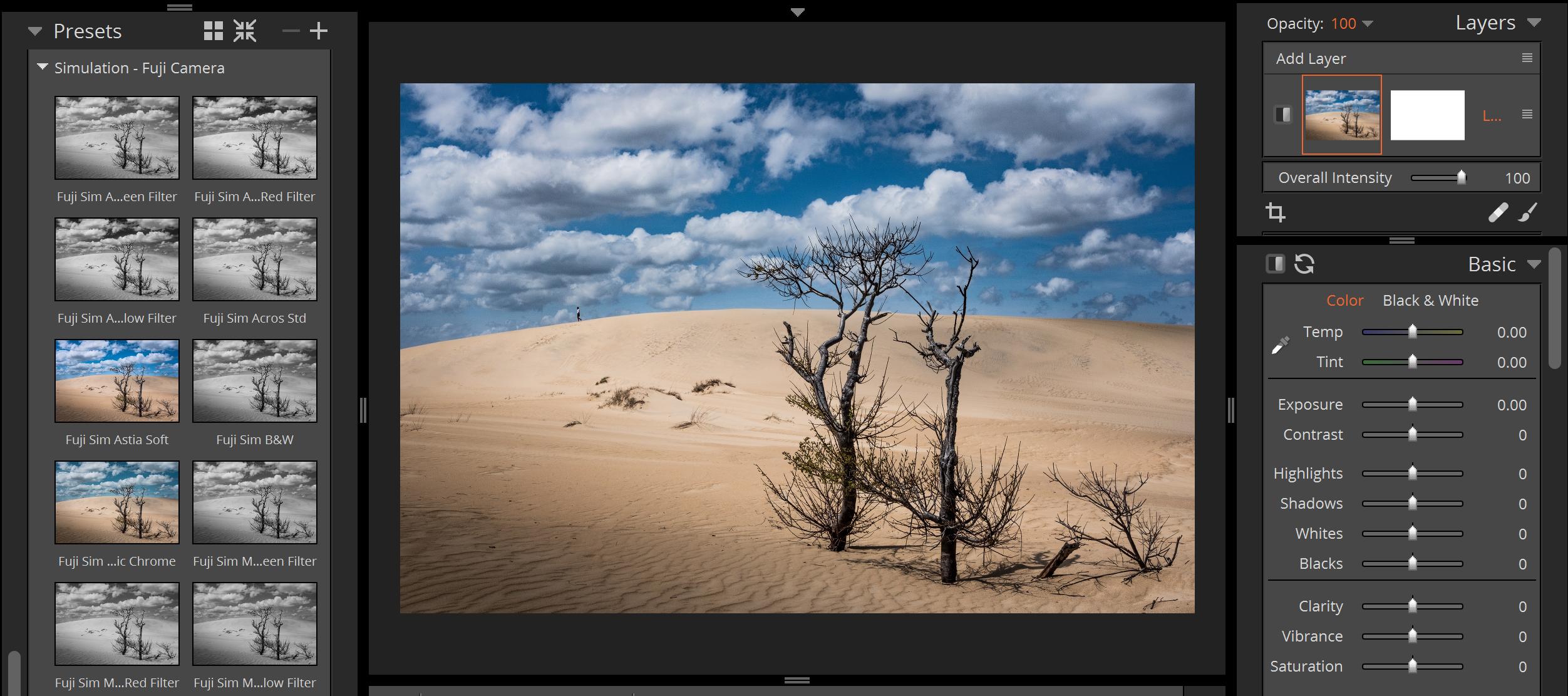Fujifilm Presets in Exposure X3 - Alien Skin Software