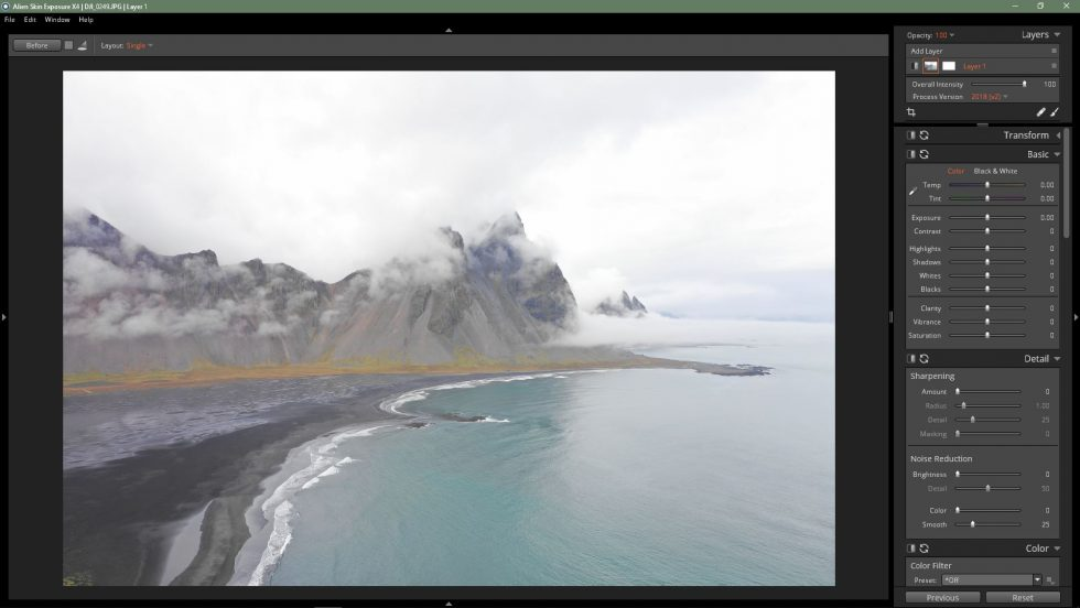 Landscape Photography with the DJI Mavic 2 Pro Drone and Exposure X4